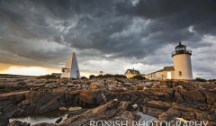 Light House, Goat Island, Cape Porpoise Maine, Bonish Photography