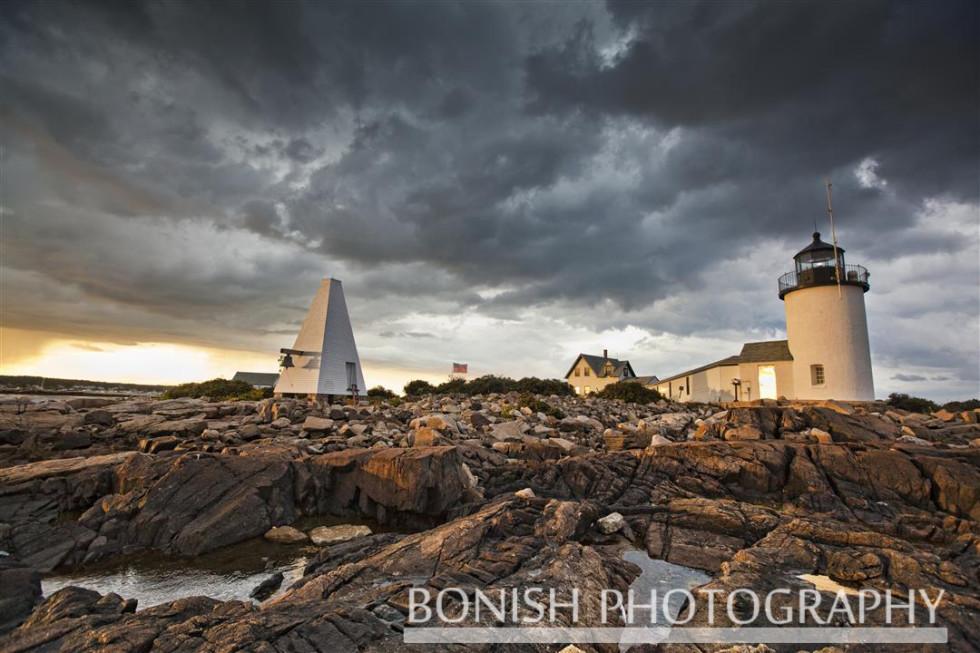 Light House, Goat Island, Cape Porpoise Maine, Bonish Photography