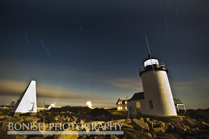 Goat Island Light Station, Night Time Photography, Bonish Photo, Star Trails
