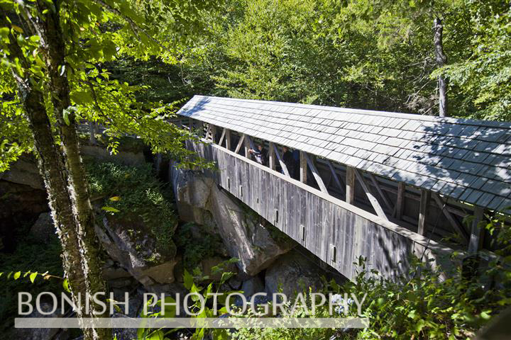 The Sentinel Covered Bridge, Flume Gorge, New Hampshire, Bonish Photo