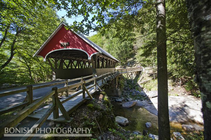 Flume Gorge, Covered Bridge, Bonish Photo, New Hampshire