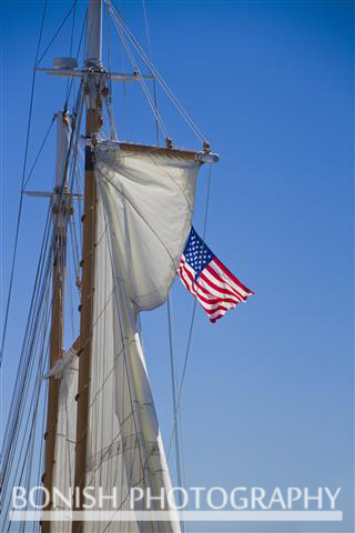 America, Flag, Sailboat, Sails, Bonish Photo, Nautical