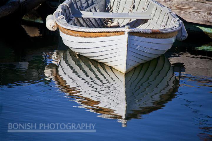 Dinghy, Reflection, Maine, Boat, Bonish Photo
