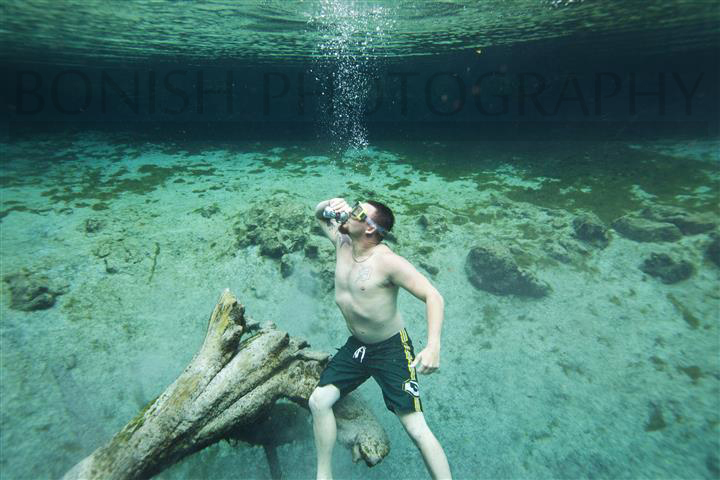 Nick Hegle, Drinking, underwater Photography, Bonish Photo