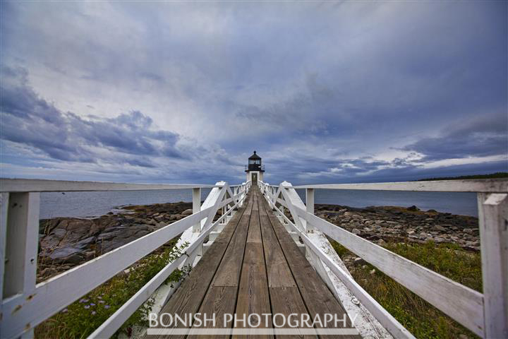 Marshal Point Lighthouse, Maine, Coastline, Bonish Photo, Navigational Becon