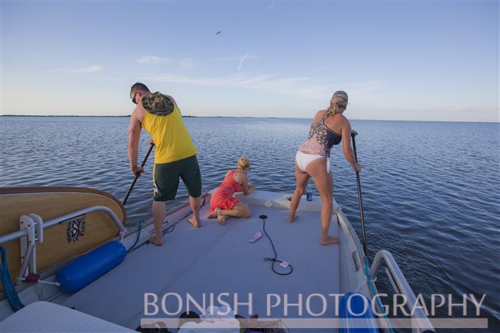 Nick Hegle, Cindy Bonish, Kailey Hegle, Cedar Key, Bikini