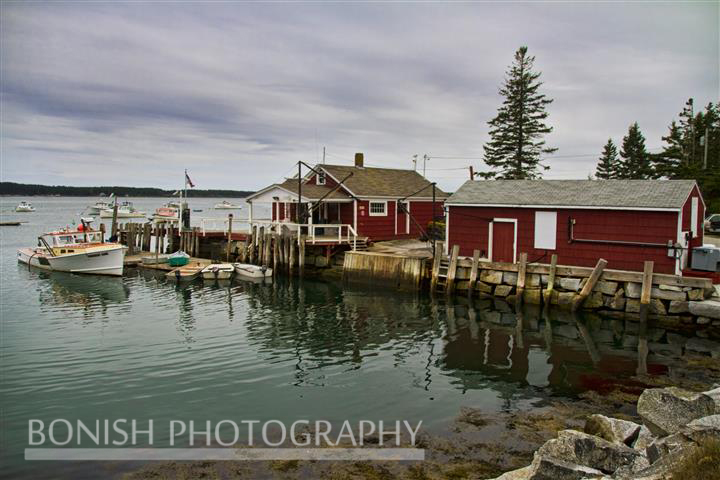 Harbor, Maine, Boat, Fish House, Bonish Photo