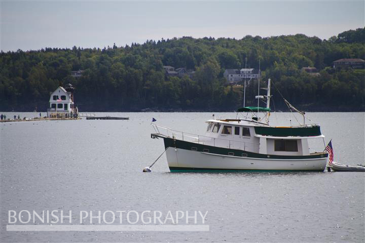 Lighthouse, Rockland Breakwater, Maine, Boat, Tug, Bonish Photo