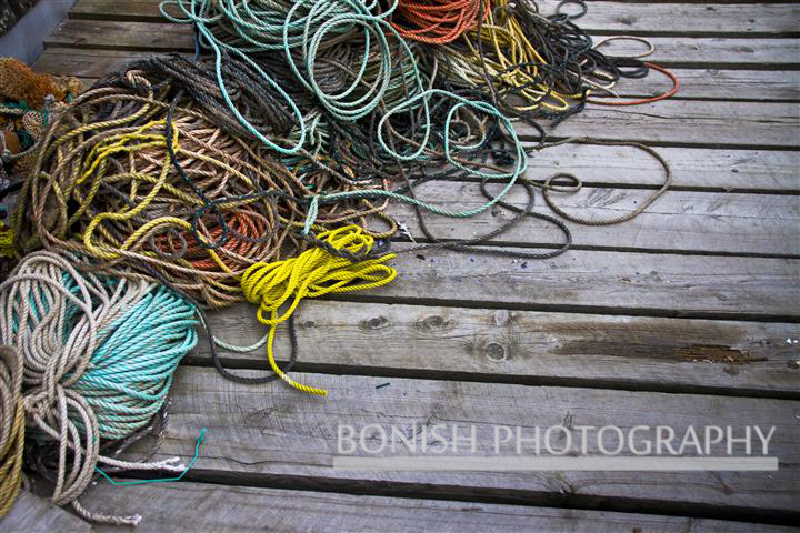 Nautical, Rope, Dock, Maine, Bonish Photo