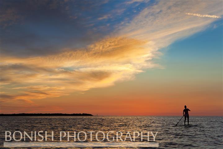 Sunset, Stand Up Paddle, SUP, Bonish Photo, Cedar Key