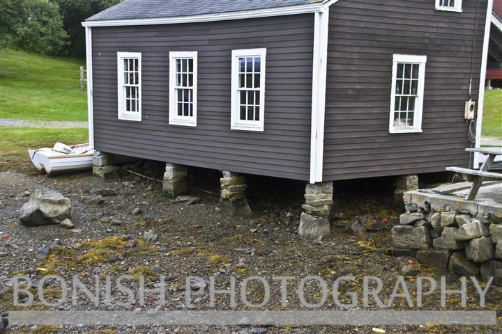 Footings, Port Clyde, Maine, House, Construction, Bonish Photo