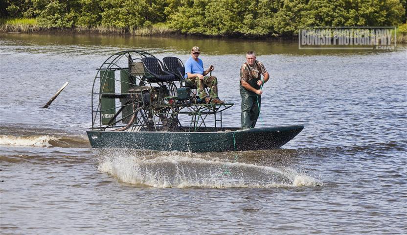 Airboat, Cast net, Cedar Key, Bonish Photo