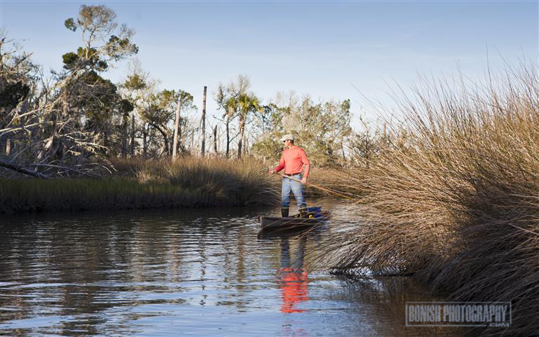 Pirogue, Florida, Boating, Heath Davis, Bonish Photo
