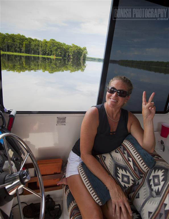 Cindy Bonish, Houseboat, Florida Boating, Suwannee River, Bonish Photo, Catamaran Cruiser, Trailerable Houseboat