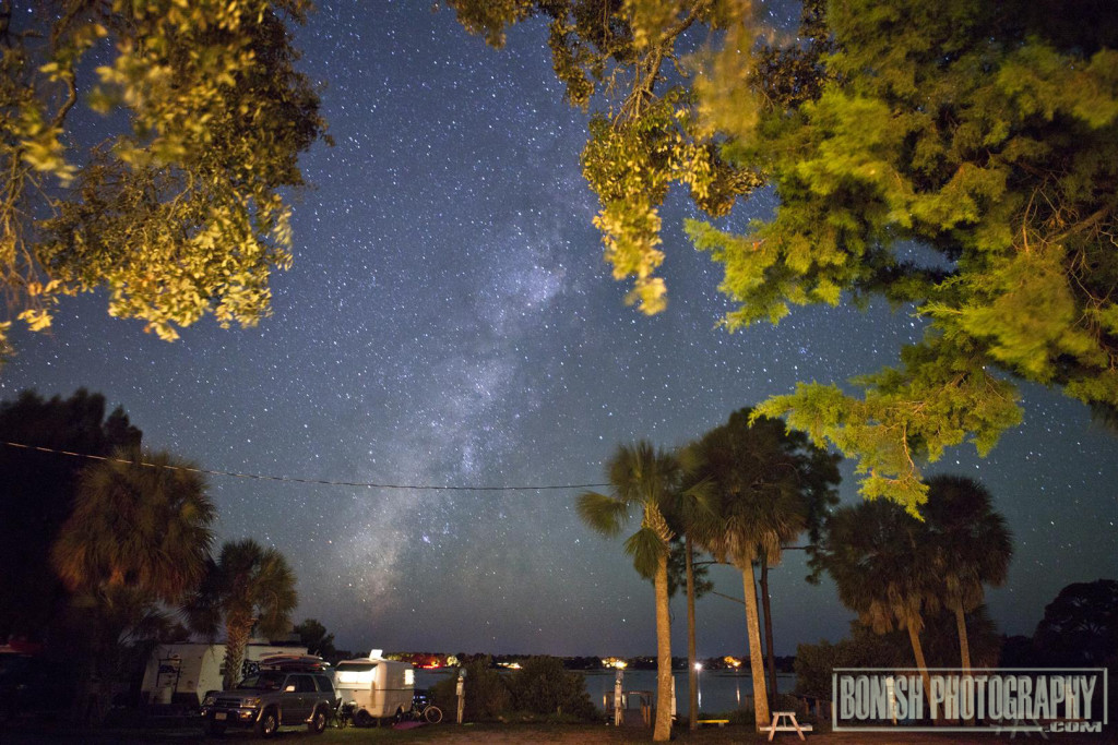 Milky Way, Nighttime Photography, Bonish Photography, Sunset Isle Campground, Cedar Key, RV Camping