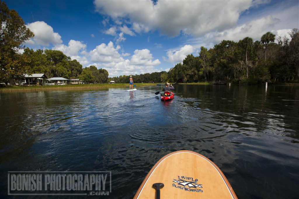 Paddling, Rainbow River, Stand Up Paddle Board, Bonish Photography