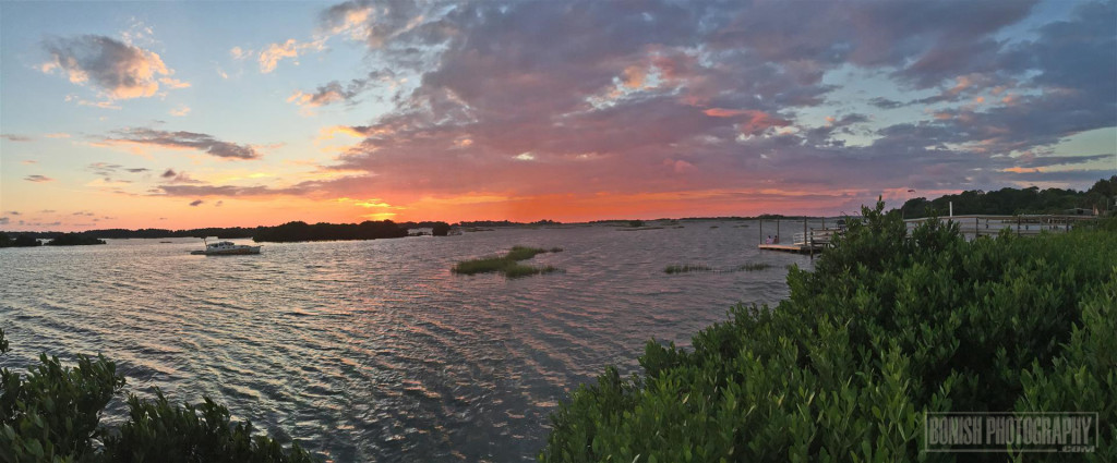 Sunset Pano, Cedar Key, Bonish Photo, Low-Key Hideaway