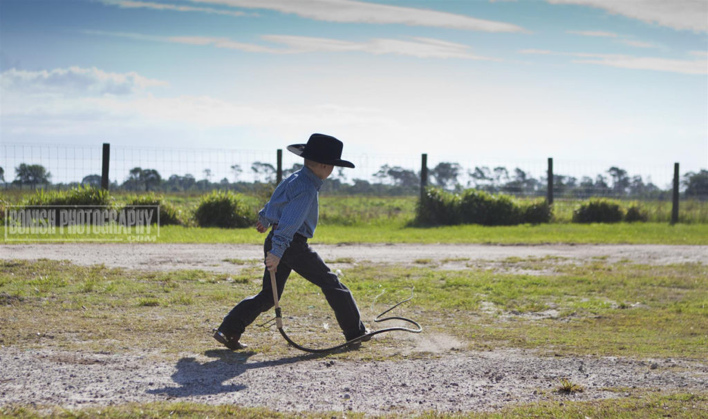 Cowboy, Whip Cracking, Bonish Photo, Florida Cattle Ranchers