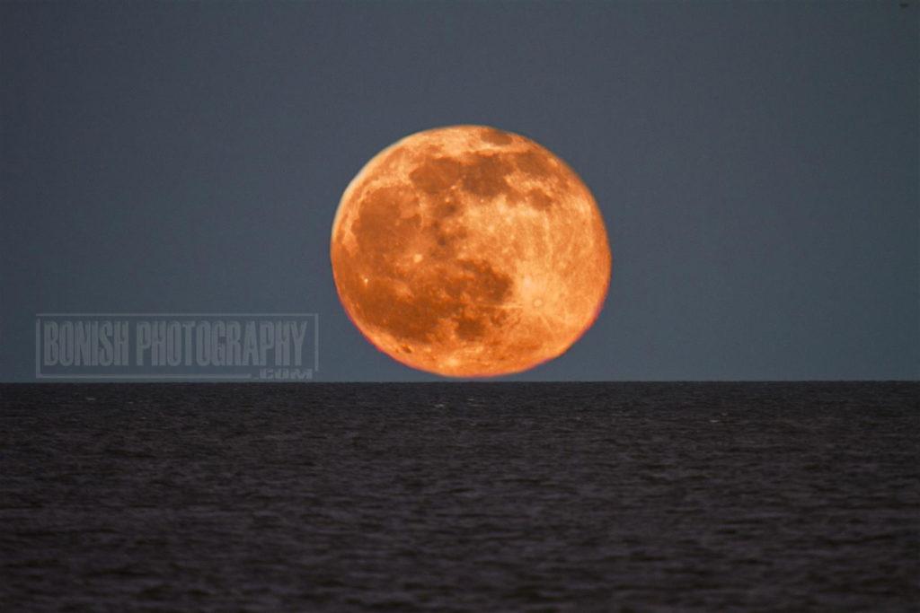 Strawberry Moon, Summer Solstice, Bonish Photo