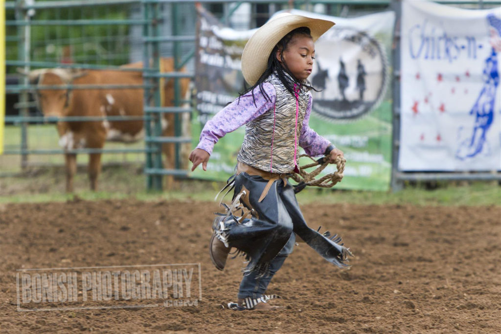 Mutton Busting, Cowgirl, Bonish Photo