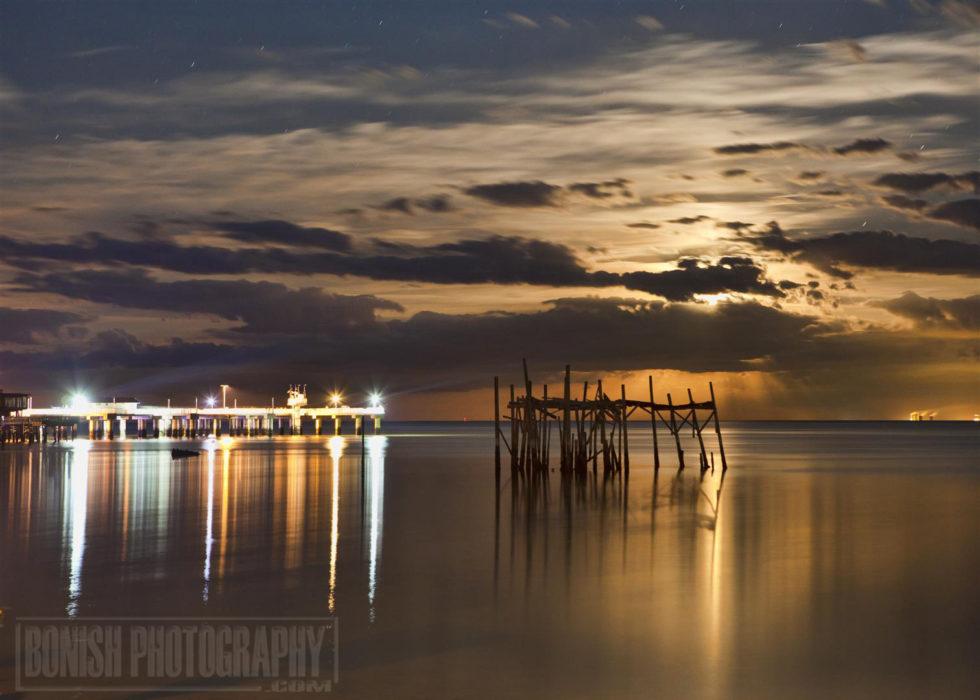 Moon Rise, Cedar Key, Bonish Photo