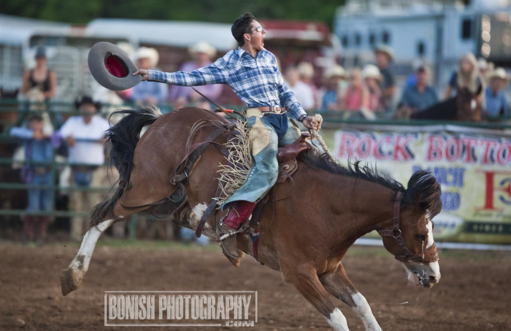 Jake Barnes, Rodeo, Bronc Riding, Rock Bottom, Bonish Photo