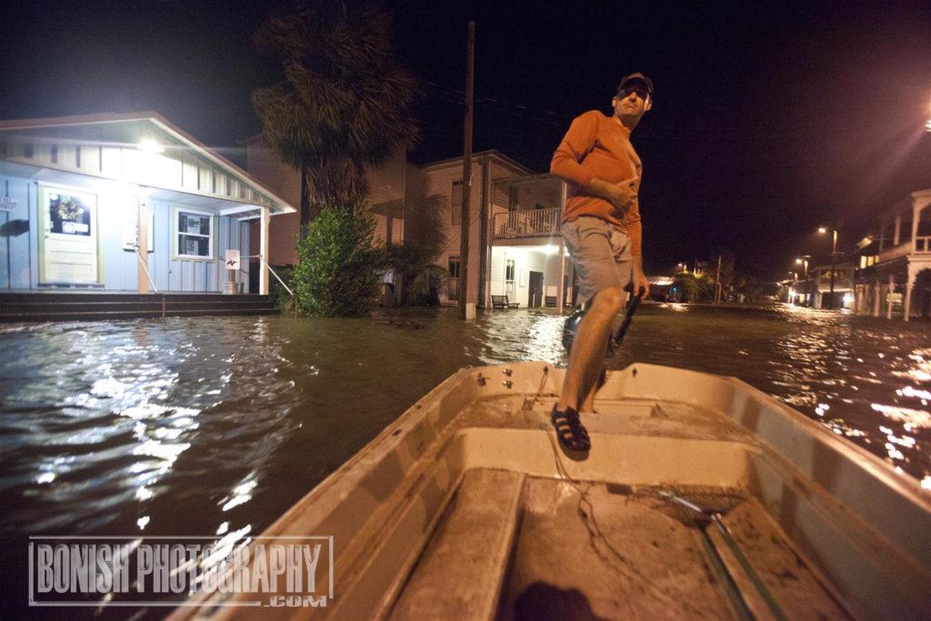 Heath Davis, Bonish Photo, Hurricane Hermain, Cedar Key
