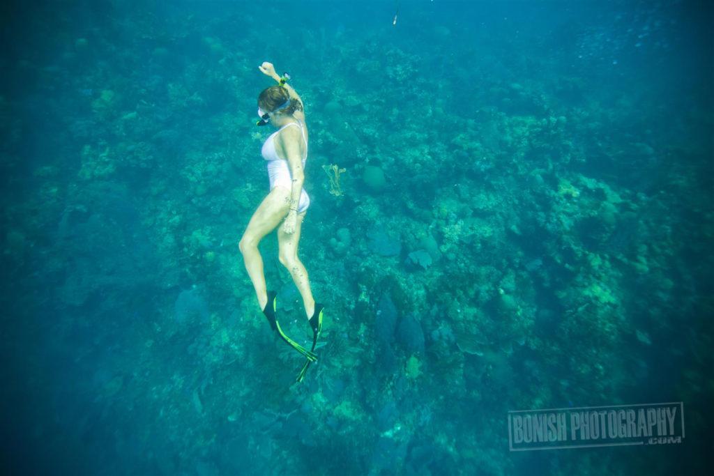 Snorkeling, Jolie Davis, Roatan, Bonish Photo, Underwater Photo