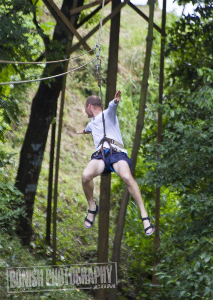 heath Davis, Bonish Photo, Roatan, Ziplining
