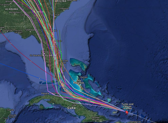 Hurricane Irma, Spaghetti Model, Bonish Photo, Every Miles A Memory