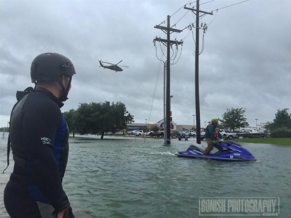 Swiftwater Rescue, Hurricane Harvey, Bonish Photo, Texas
